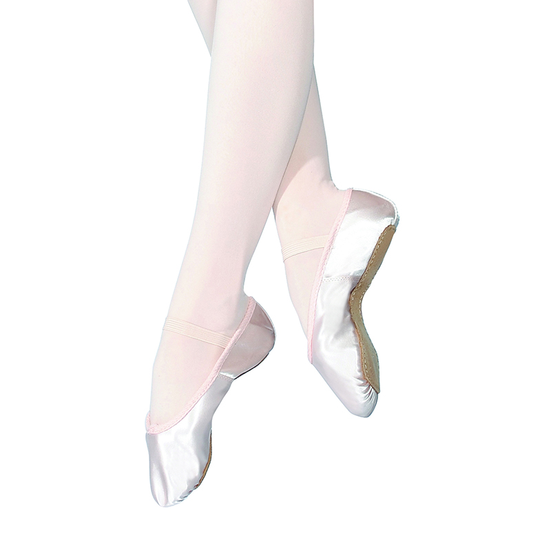 cd60692ba1a3 Roch Valley Full Sole Pink Satin Ballet Shoes